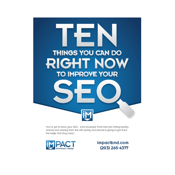 Inbound Marketing Ebook - 10 Things You Can Do Right Now to Improve SEO