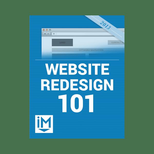 Inbound Marketing Ebook - Website Redesign 101