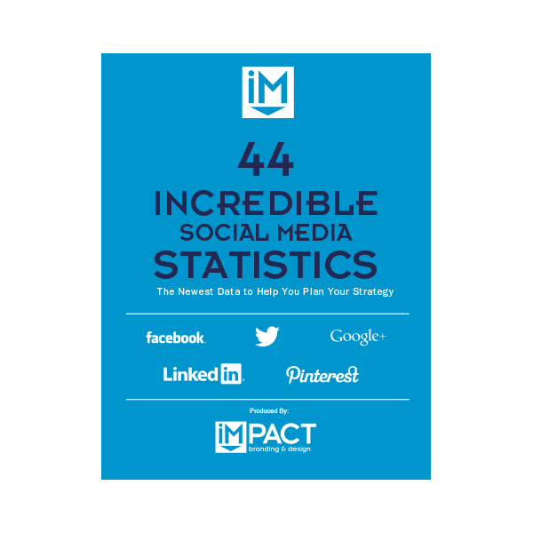 Inbound Marketing Ebook - 44 Incredible Social Media Stat