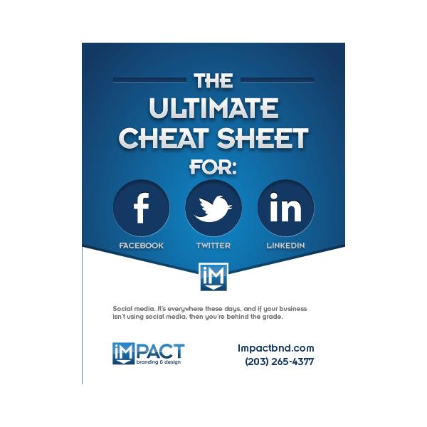 Inbound Marketing Ebook - The Ultimate Cheatsheet for Facebook, Twitter and LinkedIn