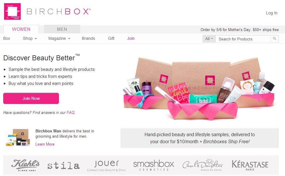 Birchbox Contrast CTA