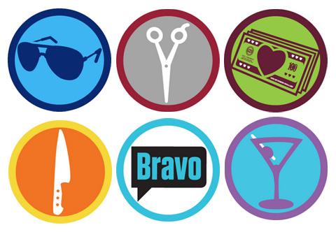 Bravo Foursquare badges