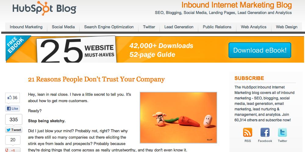 HubSpot Inbound Marketing Blog