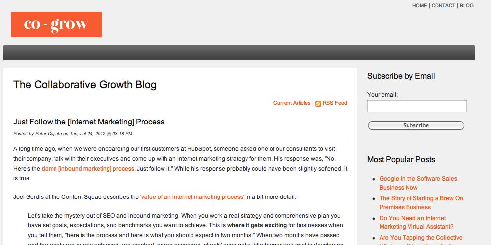 Co-Grow Inbound Marketing Blog
