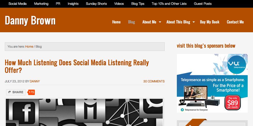 Danny Brown Inbound Marketing Blog