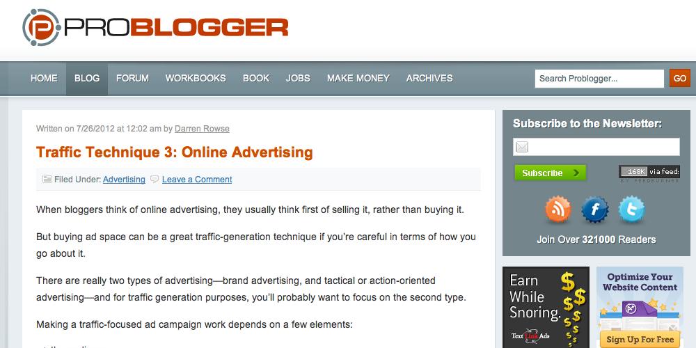 Pro Blogger Inbound Marketing Blog