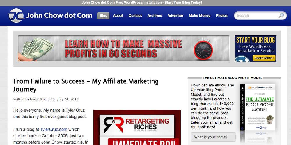 John Chow Inbound Marketing Blog