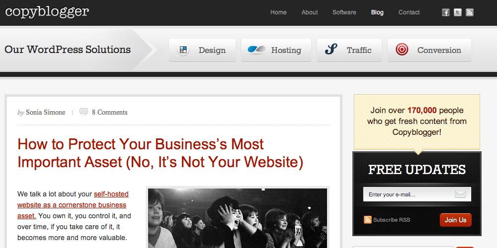 Copyblogger Inbound Marketing Blog