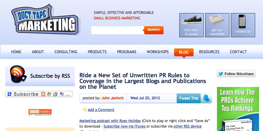 Duct Tape Marketing Inbound Marketing Blog