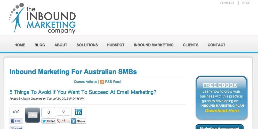 The Inbound Marketing Company Blog