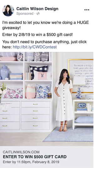 2019 Sweeps - Single Image - Facebook Ad Example