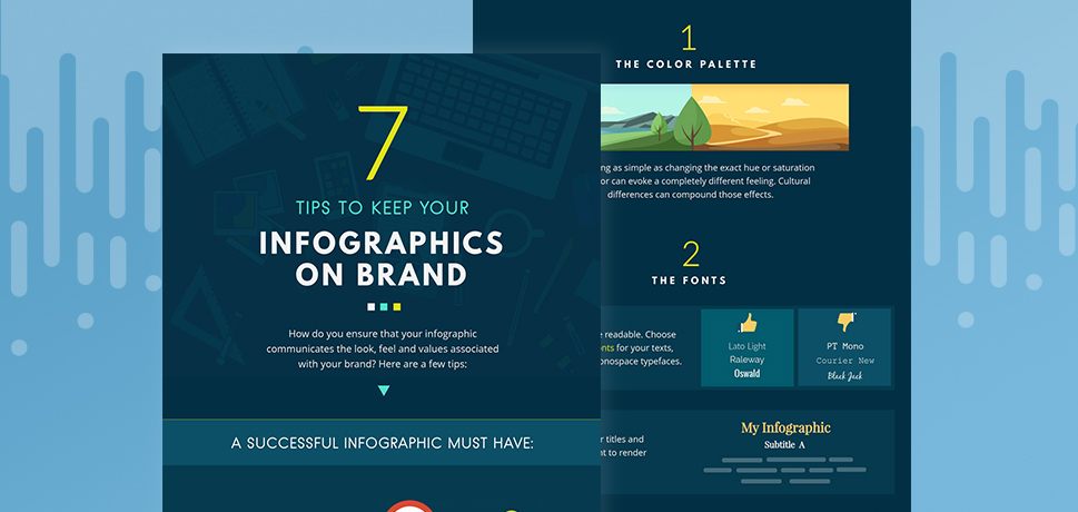 7 sharp tips for keeping your next infographic on brand [Infographic]