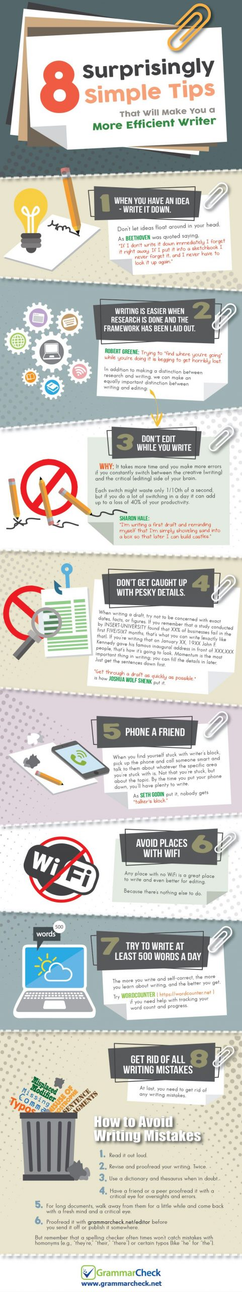 8 surprisingly simple tips to be a more efficient writer [Infographic]