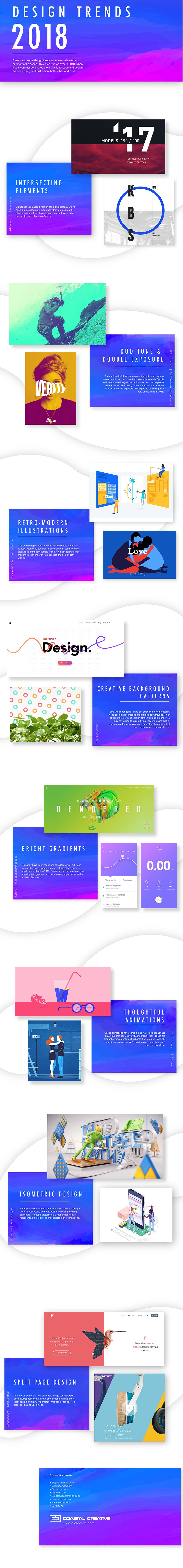 8 Web Graphic Design Trends That Will Rock 2018
