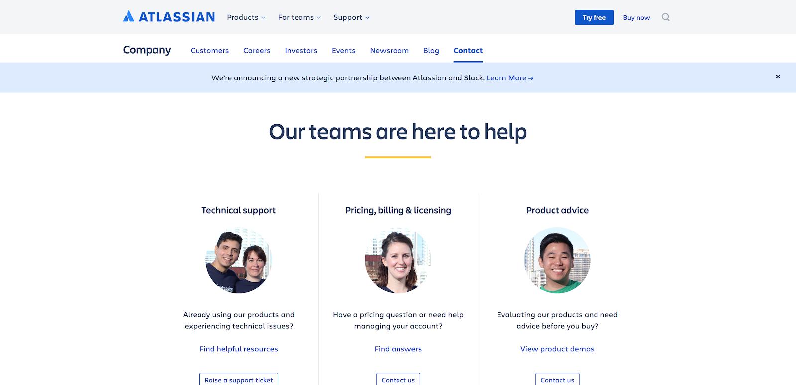 Atlassian Contact Us