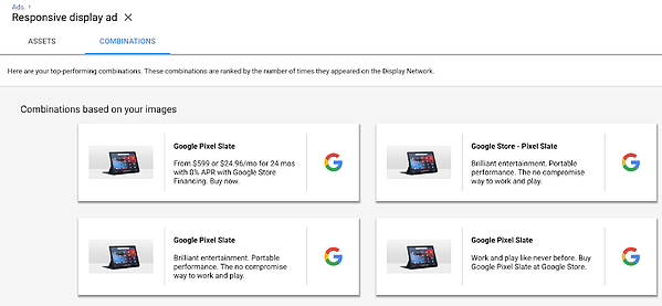 Google Combinations Report
