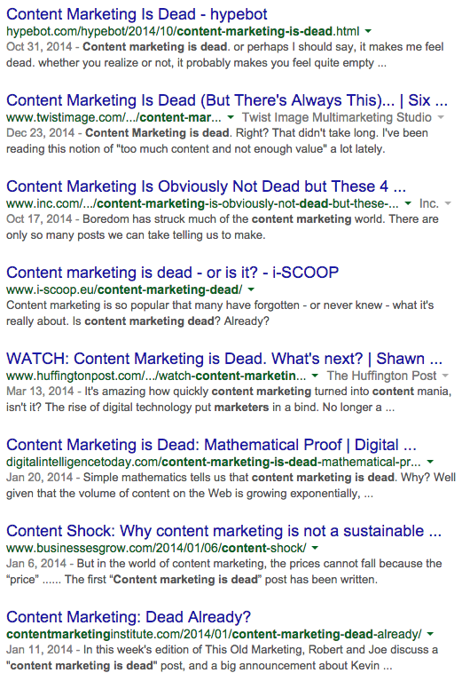 Content_Marketing_is_Dead_Google_Search_Result