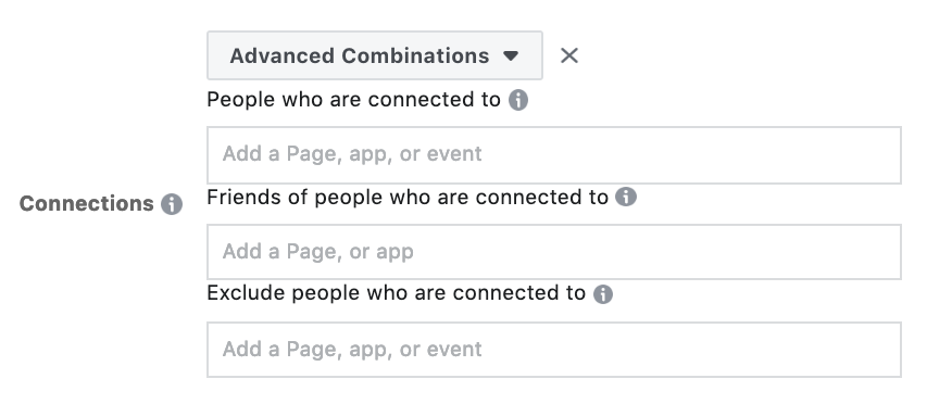 Facebook Audience - Advanced Combinations
