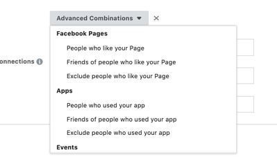 Facebook Audience - Options