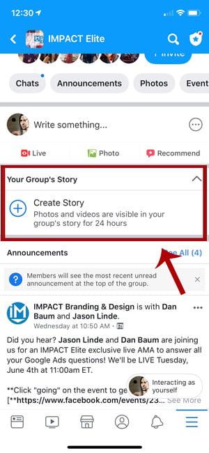 Facebook-Stories-Groups