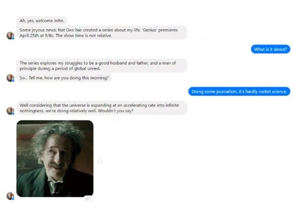 Genius-Einstein-Chatbot-Example