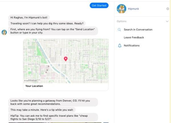 Hipmunk-Messenger-Chatbot-example