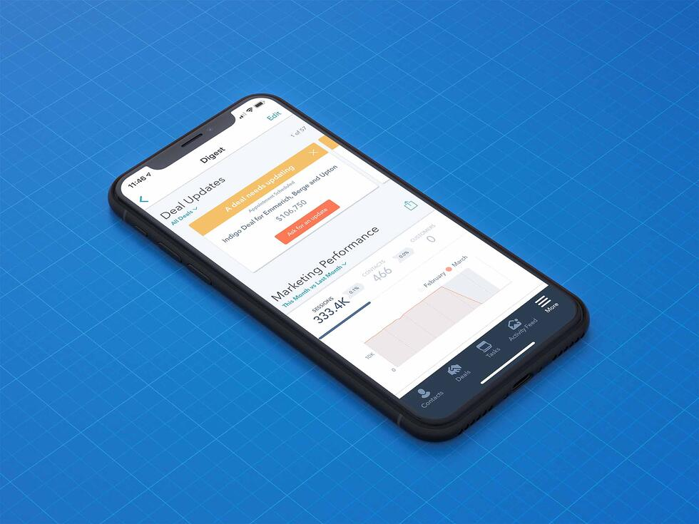 HubSpot Refreshes the Look and Feel of the Mobile App