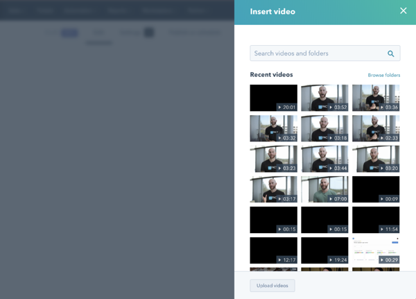 HubSpot Video File Manager