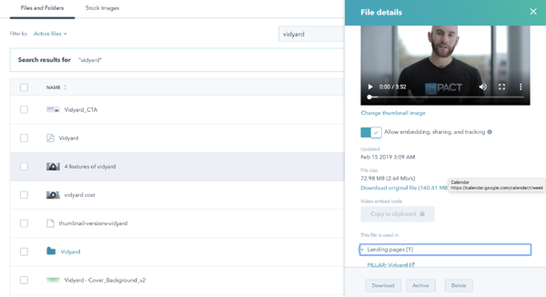 HubSpot Video Settings