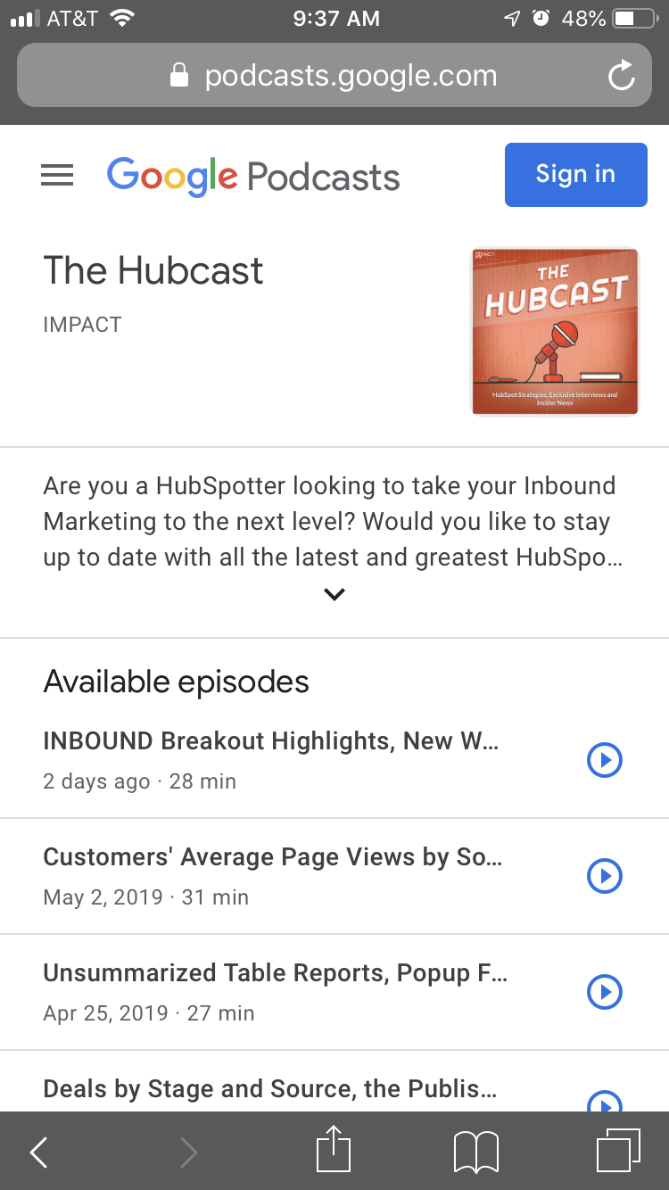 Hubcast-Podcast-Results