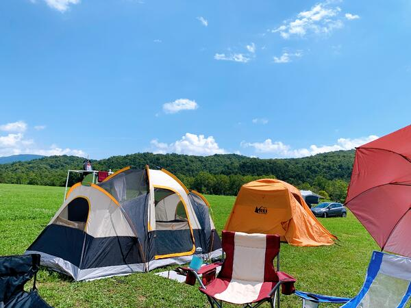 camping in western maryland tents