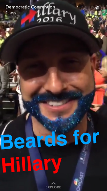 DNC 2016 snapchat discover