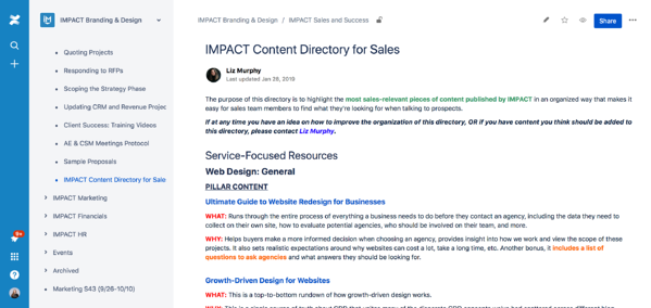 IMPACT Content Directory for Sales   IMPACT Branding   Design   Confluence