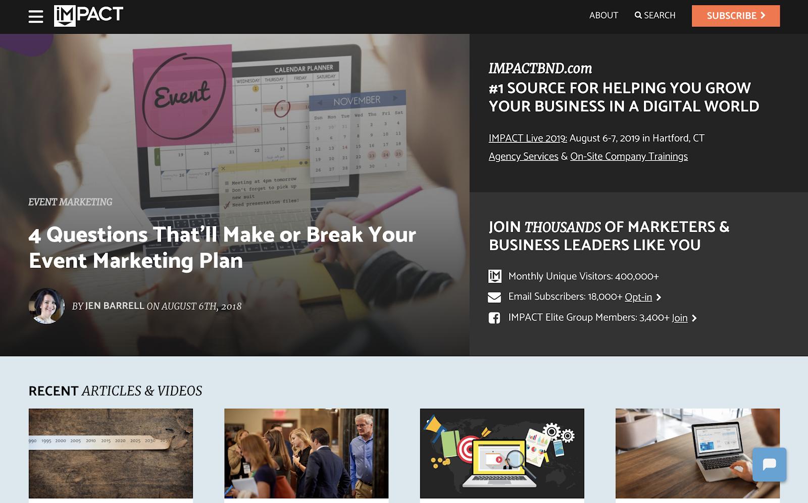 IMPACT Media Co Homepage