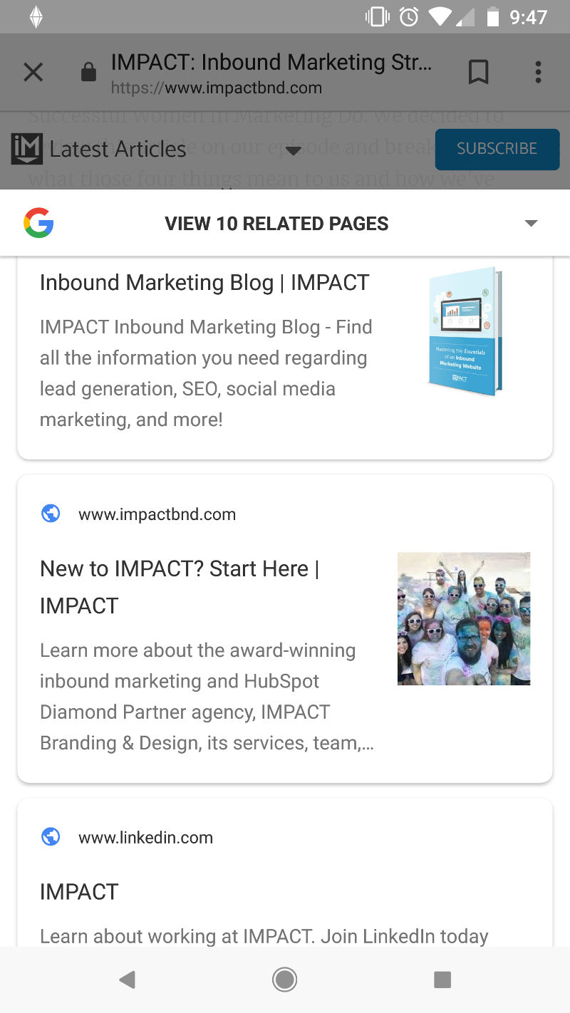 IMPACT related
