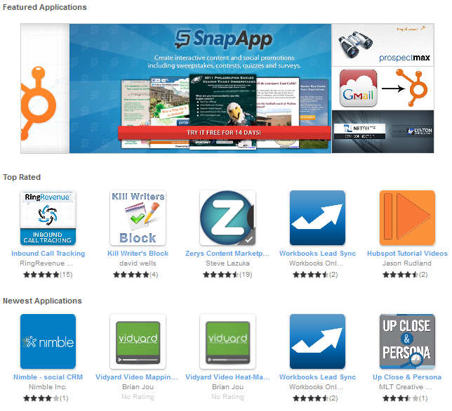 HubSpot App Markeplace