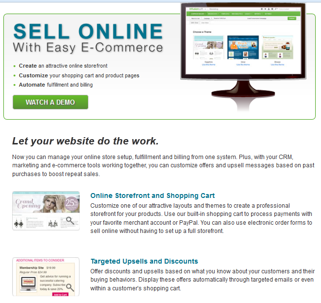 Infusionsoft ecommerce