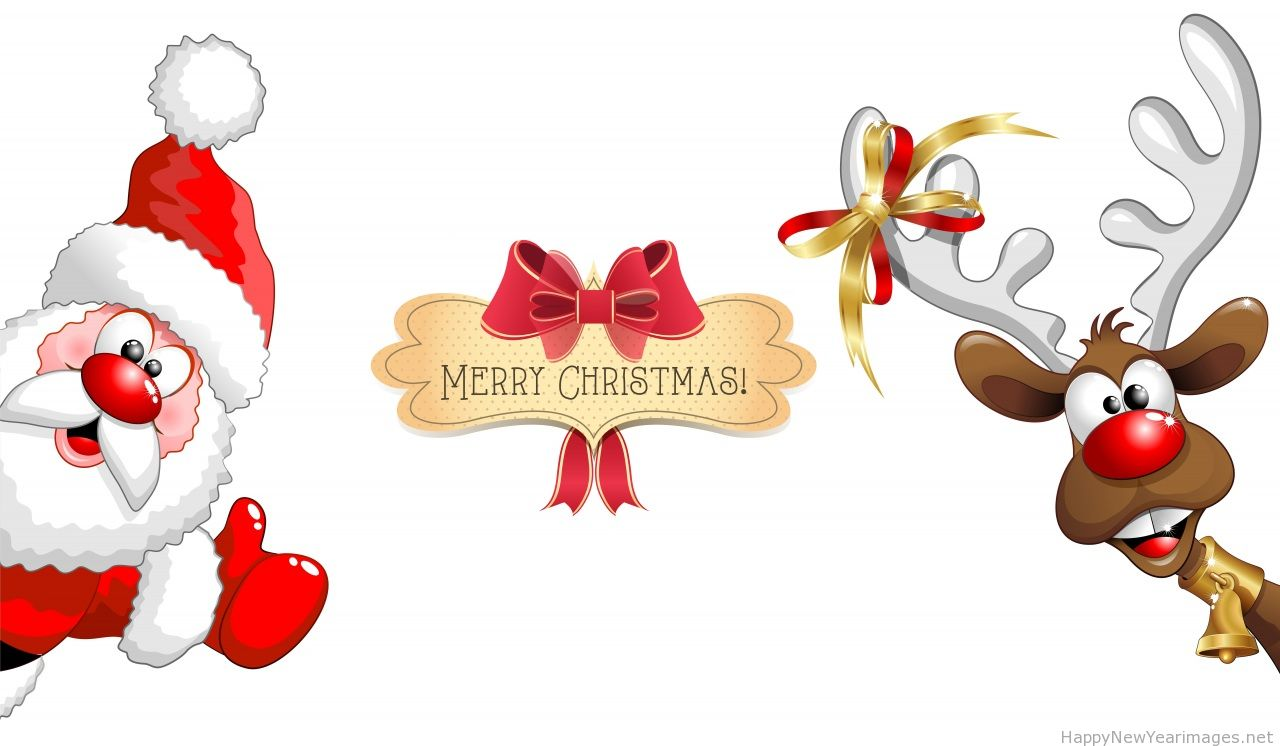 Merry-Christmas-Santa-Cartoon-Amazing-Wallpaper