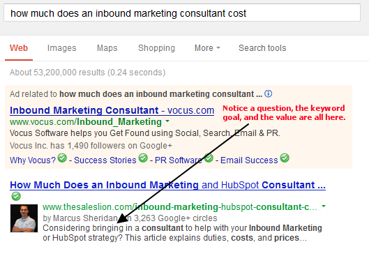"""Great meta descriptions are about """"helping,"""" not selling, as shown in this example."""