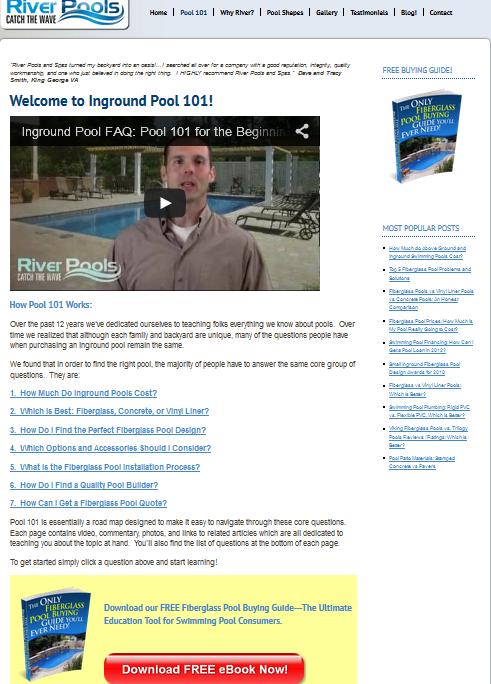 river pools FAQ page