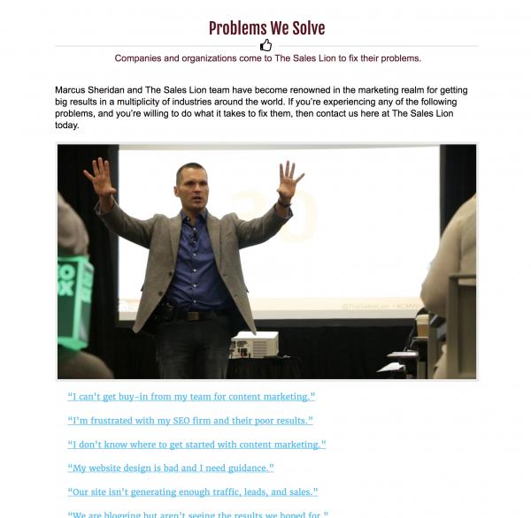 Problems We Solve Screenshot