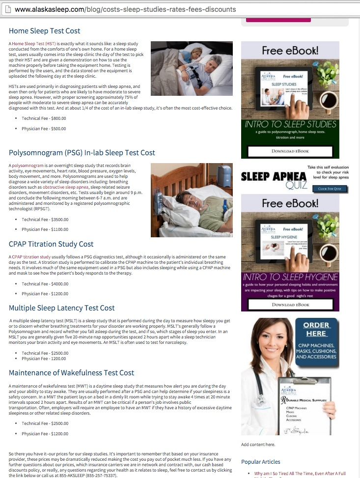 alaska sleep cost article