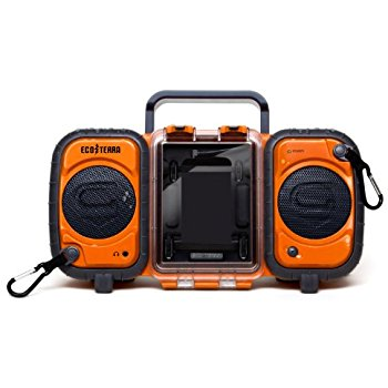 orange boombox