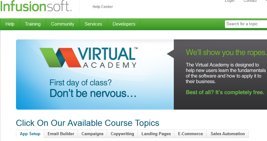 Infusionsoft Virtual Academy