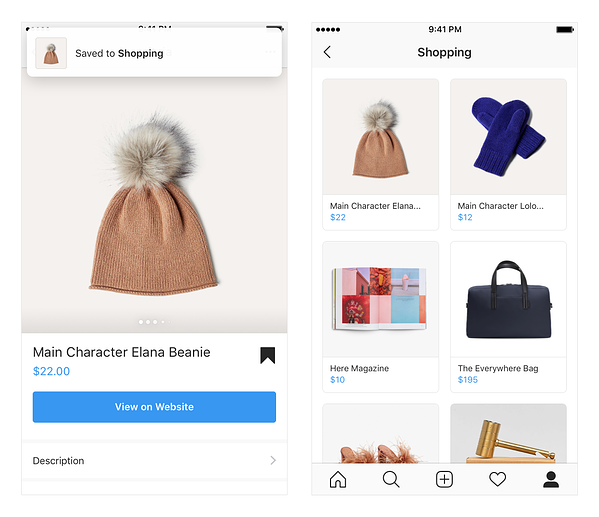 Instagram Shopping Collection