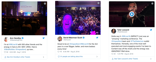 IMPACT Live tweets