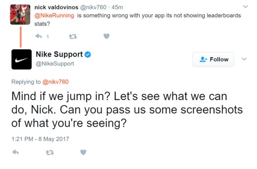 Nike Twitter Support