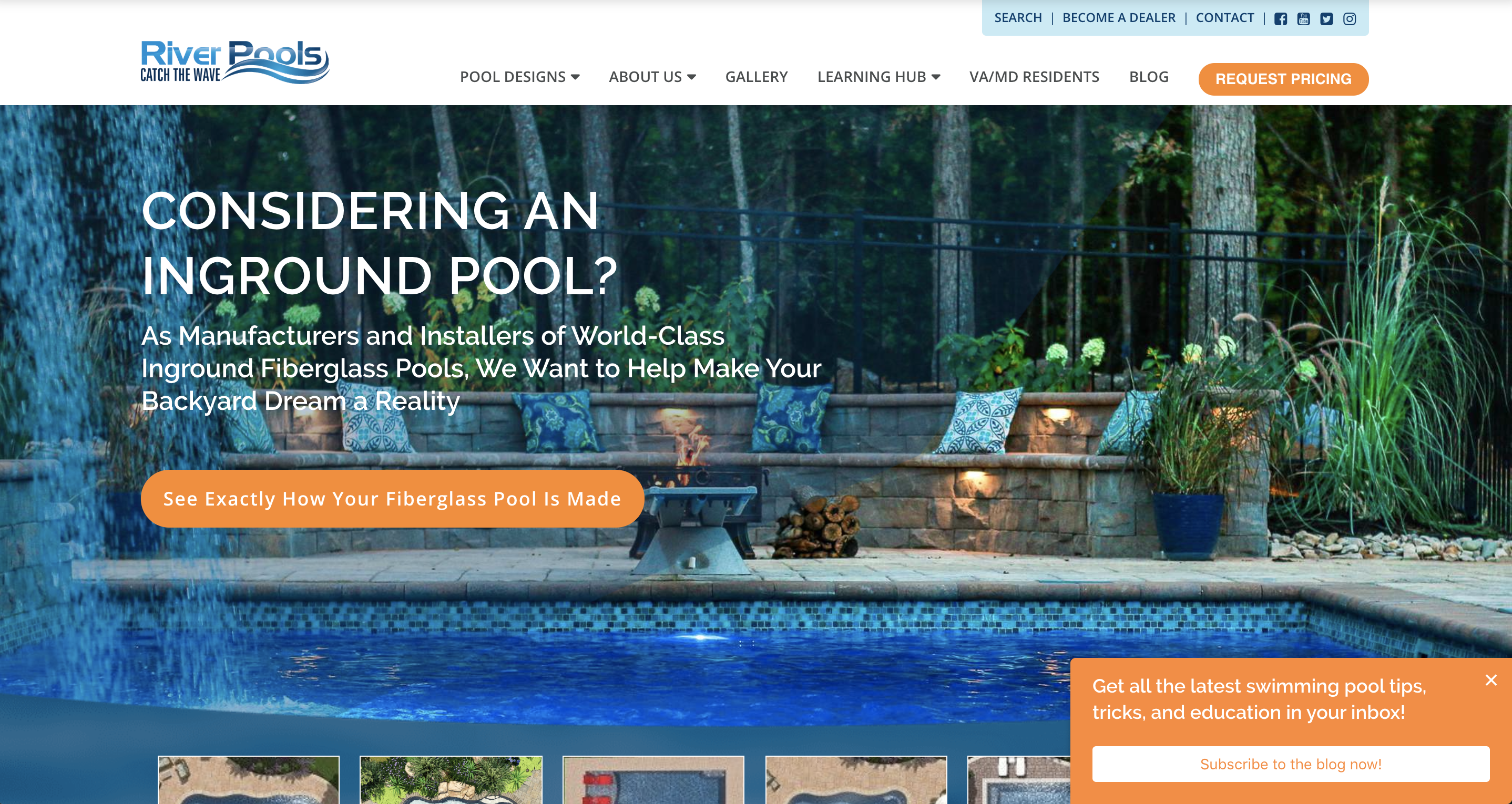 River Pools and Spa Homepage