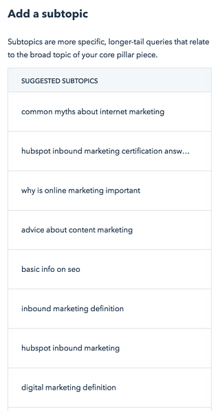 HubSpot topic clusters