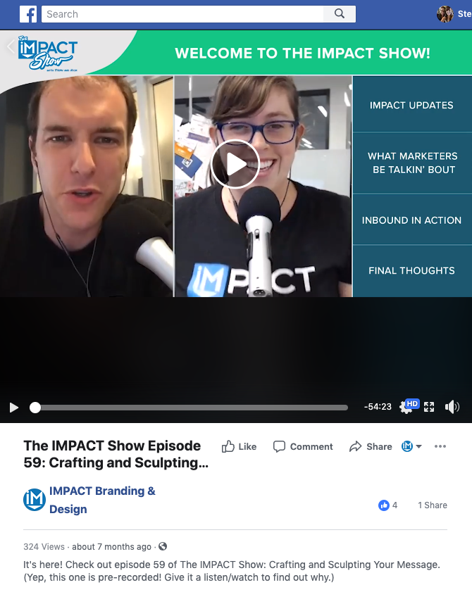the pre recorded impact show